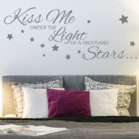 Kiss Me Under the Light of a Thousand Stars~ Wall sticker / decals